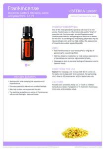 frankincense oil pdf