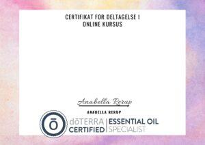 Certifikat aeteriske olie kursus pdf