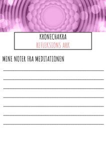 Refleksions ark til Kronechakra pdf