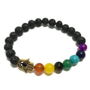 Armbånd med Krystaller og Chakra sten