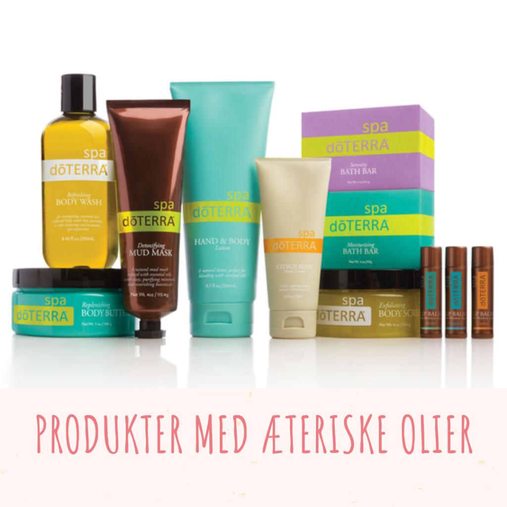 Produkter med Æteriske Olier