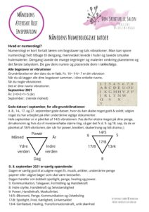 Månedens Numerologiske datoer September 2021 pdf